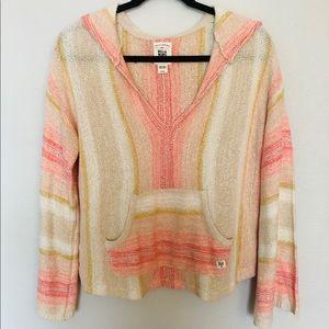 NWOT Billabong Beachy Striped Sweatshirt/Coverup